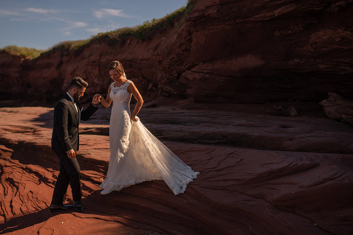 PEI Weddings, Prince Edward Island, Jenn Nauss, Cooked Photography, Beach Weddings, Sunset, flare, PEI wedding photographers, East Coast Weddings, Maritimes